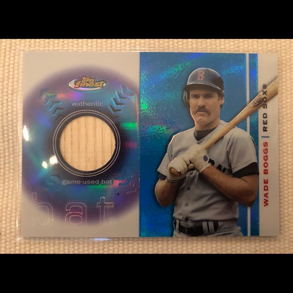 Wade Boggs Game Used Bat Card
